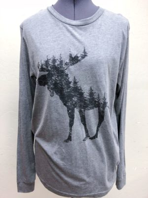 Moose made of Pine Trees