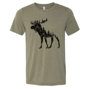 Moose made of Pine Trees | Unisex Tee
