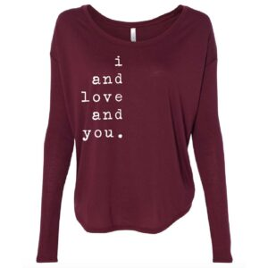 I and Love and You | print | Ladies Flowy Long Sleeve