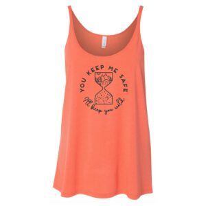 You Keep Me Safe, I'll Keep You Wild | Ladies Slouchy Tank