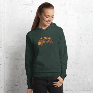 Floral Buffalo | Autumn Colours | Unisex Hoodie