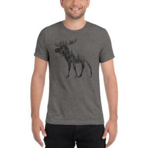 Pine Tree Moose | Unisex Tri-blend Tee
