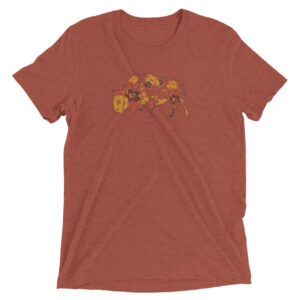 Floral Buffalo | Autumn Colours | Unisex Triblend Tee