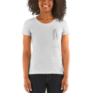 Flower Self Growth | Cultivate Love | Ladies' Tri-blend Tee