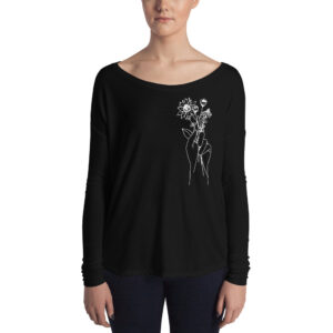 Hand Holding Wildflowers | Ladies' Flowy Long Sleeve Tee