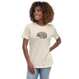 Lavender Hedgehog | Ladies Relaxed Tee