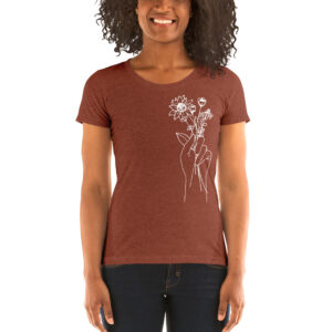 Hand Holding Wildflowers | Ladies' Tri-blend Tee