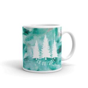 Go Outside | Green Painted | Mug
