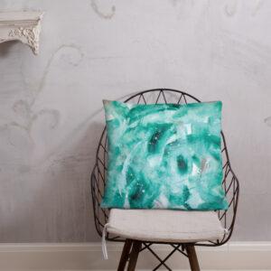 Green Painted Print | Basic Pillow