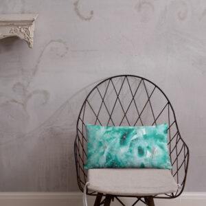 Green Painted Print | Basic Pillow