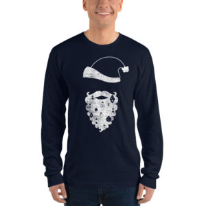 Modern Santa | Long Sleeve Tee | American Apparel