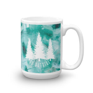 Go Outside | Green Painted | Mug