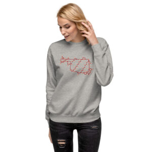Oklahoma Wrapped in Lights | Crimson and Ivory | Unisex Fleece Pullover