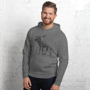 Pine Tree Moose | Unisex hoodie