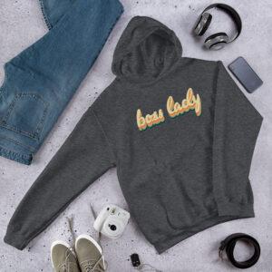 Boss Lady | 70s Style | Unisex Hoodie | Gildan