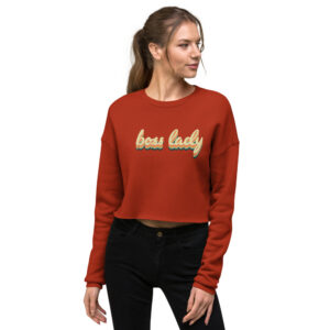 Boss Lady | 70s Style | Crop Sweatshirt